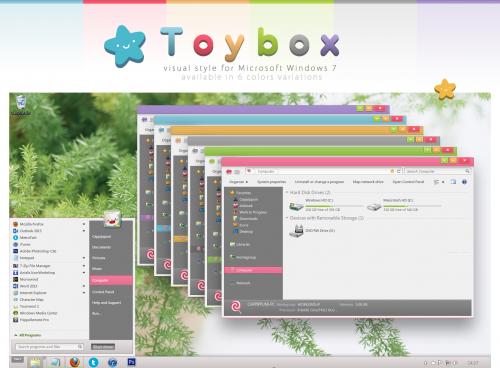 Windows 7 üçün ToyBox mövzusu (tema)