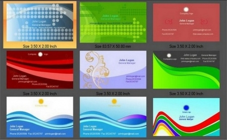 Business Card Designer 3.90 + key - Vizit kart hazırlamaq üçün proqram